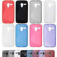 Soft TPU Rubber Snap-on Back Case Cover Skin for Motorola Moto G S-line NEW