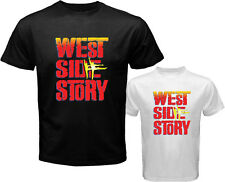 New WEST SIDE STORY Broadway Musical Show Men's White Black T-Shirt Size S-3XL