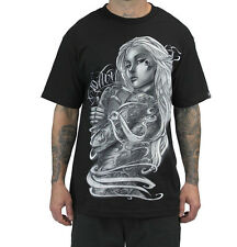 SULLEN CLOTHING COLLECTIVE LOVE GIRL SKULL TATTOO INK SCENE T SHIRT