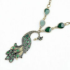 1x Fashion Style Enamel Peacock Chain Necklace Charm Animal Pendant