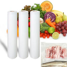 Vacuum Food Storage Sealer bag space sealers Saver Keep Fresh 3 roll bags pack