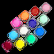 12 x 20ml Solid Color UV Gel New Nail Art Tips Decoration Extension Builder Gift