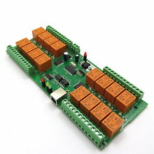 USB Relay Controller 16 Channels - RS232 Virtual Serial Port controlled