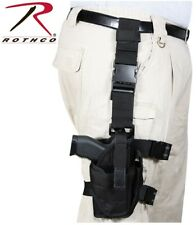 BLACK Police & Military Deluxe Tactical Adjustable Drop Leg Gun Holster 10752