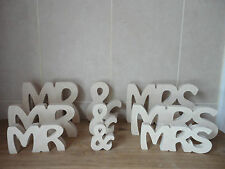 MR AND MRS MR & MRS WEDDING SIGN WOODEN LETTERS TOP TABLE DECORATION BRAND NEW