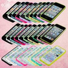 for apple iphone 4s 5s 5c case plastic back skin rubber frame cover phone shell