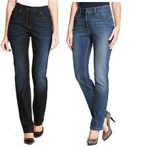 M&S LADIES STRAIGHT LEG DENIM JEANS ADDED STRETCH,SIT ON THE WAIST 3 LENGTHS