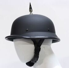 German Flat Black Novelty Helmet with 1 Spike  -  Free Shipping