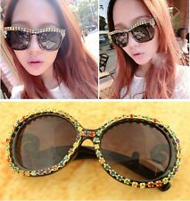 New Fashion Retro Vintage Shades Rhinestone Design Sunglasses Women Glasses Hot
