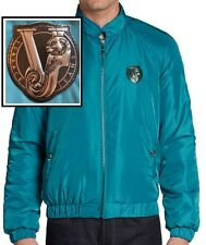 NWT Versace Jeans By Gianni Versace Logo Detail Zip Quilted Jacket