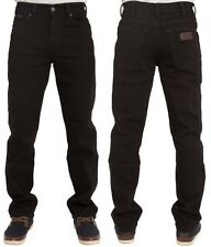 MENS WRANGLER TEXAS STRETCH REGULAR FIT STRAIGHT LEG JEANS IN BLACK 30 TO 48