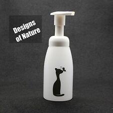 Soap Foam Dispensers, 250 ml Translucent Tapered Plastic, Cat & Butterfly Decal