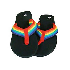 Pride Shack - Black & Rainbow Flip FLops Sandals LGBT Gay & Lesbian Pride Parade