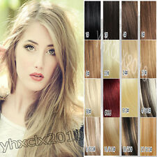 Clip in hair extensions 100% human hair full set any 15 colors new 20inch