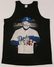 LA Dodgers Vin Scully Tank Top T-shirt Los Angeles Tee Adult M-2XL Black New