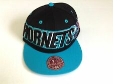 NBA New Orleans Hornets XL Logo Mitchell and Ness Cap Two Tone Fitted MN Hat NEW