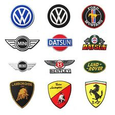 EMBROIDERED IRON ON PATCH CLASSIC CAR AUTOMOBILE VW MINI COOPER FORD FERRARI