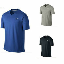 Nike 546405 Mens V-Neck Swoosh Tee Classic Cotton T-Shirt All Color - All size