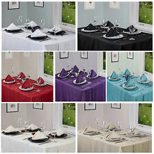 Linen Look Tablecloths,Napkins,Runners And Placemats - All Items Sold Separately