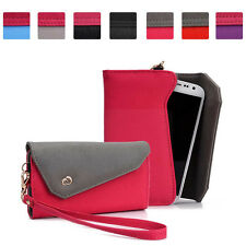 A Universal Designer Wristlet Clutch Wallet Case for Alcatel Mobile Phones