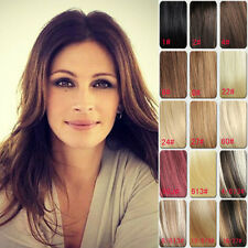 Lady 8PCS AAA Grade Clip in Real Human Hair Extensions Black Brown Blonde Red