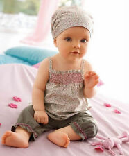 3pcs Baby Infant Girl Kid Headband+Top+Pants Shorts Floral Outfit Set Clothes