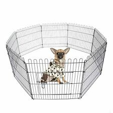 "24"" 30"" 36"" Light Duty 8 panel Pet Playpen Metal Dog Exercise Pen Fence Cover"