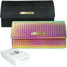 Ladies LYDC Large Hologram Patent Leather Style Purse Wallet Gift Boxed (PL222)