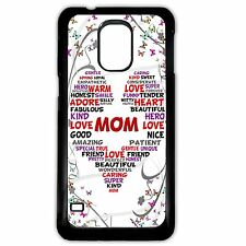 Cover for Samsung Galaxy S5 mom / mum love heart words pretty collage phone case