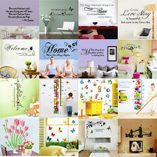 Removable Vinyl Wall Sticker Mural Art Words Quote Decal Kids Room Home Decor ay