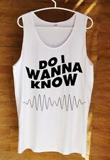 Hot Do I Wanna Know Arctic Monkeys Hipster Swag Dope Tumblr Tank Top White S M L