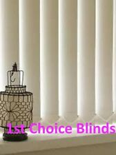 MADE TO MEASURE BEIGE VERTICAL WINDOW BLINDS  SUPERIOR QUALITY