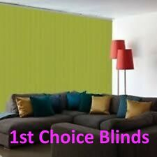 MADE TO MEASURE KIWI LIME GREEN VERTICAL WINDOW BLINDS  SUPERIOR QUALITY