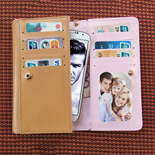 Crown Envelope Zip Leather Wallet Purse ID Card  Case Cover For Blu Phone Apple6