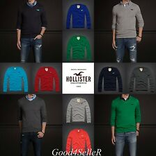 New Hollister by Abercrombie Men PACIFIC COAST V-Neck Sweater Muscle Fit Size