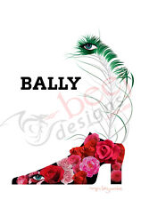 "Bally Roses ""Plume"" - A4 - 8"" x 10"" vintage retro poster print by Roger Bezombes"