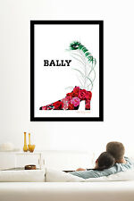 """Bally Roses """"Plume"""" - A3 - 12""""x18"""" vintage retro poster print by Roger Bezombes"""