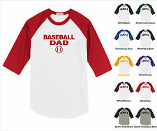 Baseball Dad Sports Home Run Stike Out Your Funny Raglan Baseball Jersey T-shirt