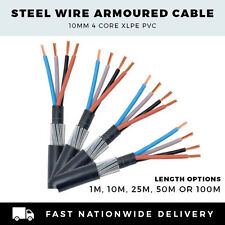 ARMOURED CABLE 10mm SWA CABLE 4 CORE SWA CABLE PER METER,10M, 25M,50M or 100M
