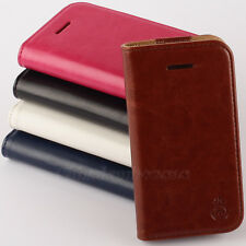 Hot Sale Leather Flip Money Wallet Card Slot Case Cover For apple iPhone 4G 4S