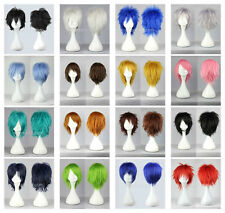 hot 15 Colors New Fashion Short Straight Man Wig Cosplay Party Wigs+Free gift