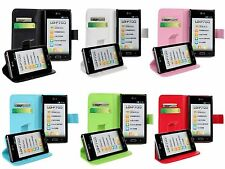 PU Leather Wallet Stand Case Cover Protector Skin F LG OPTIMUS L7 P705 P705 P700