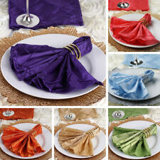 """200 pcs Pintuck 17x17"""" TABLE NAPKINS Wedding Party Catering Reception Linens"""
