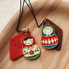 Russian Doll / Matryoshka Metal Key Chain / Phone Strap, by registered mail