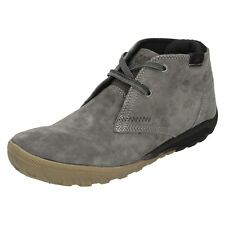 Mens grey suede leather caterpillar ankle boots Style CRUMP