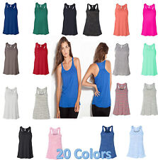 Bella Ladies Flowy Racerback Tank Top - 8800 XS-2XL Sizes