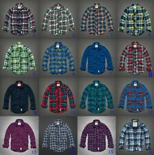 New Abercrombie by Hollister Men's RailRoad Lake Flannel Plaid shirt Muscle size