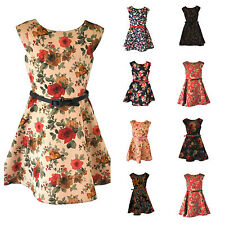Girls Party // Evening Satin Skater Dresses age 4 5 6 7 8 9 10 11 12 Years