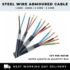ALL SWA CABLE SIZES 1.5MM-25MM 2 CORE-5 CORE ARMOURED CABLE SOLD PER METRE SALE
