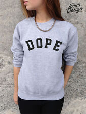 * DOPE Jumper Top Sweater Sweatshirt Fashion Tumblr Swag Fresh Trill Hype Sick *